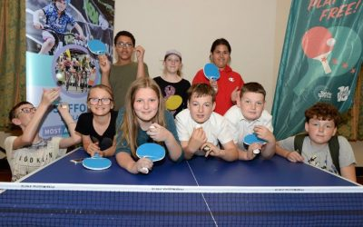 Local groups receive table tennis tables on National Table Tennis Day