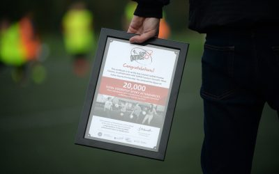 Local sports project honoured for attendance milestone